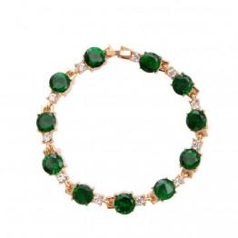 Женская Пряжка светло зеленый белый кубический цирконий браслеты и браслеты массивные подвески свадебные браслеты для женщин купить на AliExpress