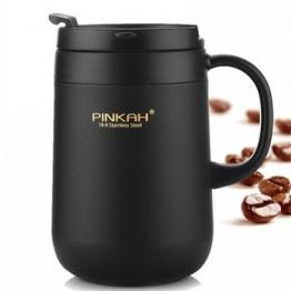460 мл Термос из нержавеющей стали, офисные кружки, чашка для воды с ручкой с крышкой, кружка для чая, кофе, термос, офисные термосы