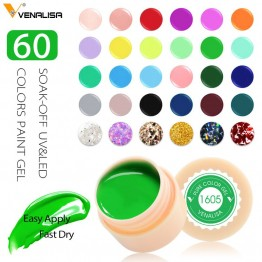 € 0.41 40% de réduction Venalisa UV Gel nouveau 2019 ongles Art conseils conception manucure 60 couleurs UV LED tremper peinture pour travaux manuels Gel encre UV Gel vernis à ongles vernis-in Nail Gel from Beauté & Santé on Aliexpress.com   Alibaba Group