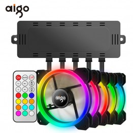 US $9.99 40% OFF Aigo DR12 120mm Cooler Fan Double Aura RGB PC Fan Cooling Fan For Computer Silent Gaming Case With IR Remote Controller am3 am4-in Fans & Cooling from Computer & Office on Aliexpress.com   Alibaba Group