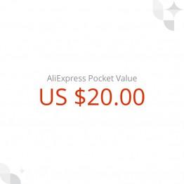 1346.82 руб. |Подарочный сертификат AliExpress на US$20 купить на AliExpress