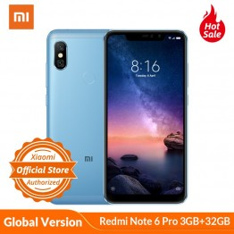 US $148.19 22% OFF|Global Version Xiaomi Redmi Note 6 Pro 3GB 32GB Mobile Phone 6.26'' Snapdragon 636 Dual Camera 20MP + 2MP Front Camera 4000mAh-in Cellphones from Cellphones & Telecommunications on Aliexpress.com | Alibaba Group