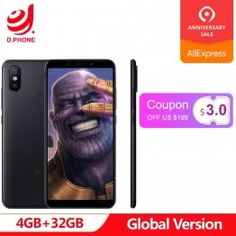9459.77 руб.  Турция 3 ~ 7 рабочих дней глобальная версия Xiaomi Mi A2 4 Гб Ram 32 ГБ Rom 5,99