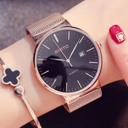 885.71 руб. 50% СКИДКА|GIMTO модные розовые женские золотые часы минимализм простые Стильные Роскошные повседневные женские часы водонепроницаемые наручные часы для женщин-in Женские часы from Ручные часы on Aliexpress.com | Alibaba Group
