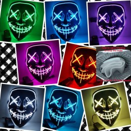 US $7.39 |Drop Shipping Link Halloween Mask LED Light Up Party Masks Purge Election Year Great Funny Masks Festival Cosplay Glow In Dark-in Party Masks from Home & Garden on Aliexpress.com | Alibaba Group