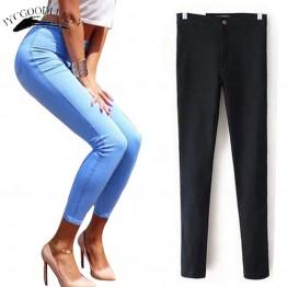 750.79 руб. 32% СКИДКА|Джинсы для женщин стрейч черные джинсы женские 2019 брюки Узкие женские джинсы с высокой талией джинсовые синие женские Пуш Ап белые джинсы-in Джинсы from Женская одежда on Aliexpress.com | Alibaba Group