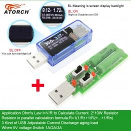 466.78 руб. 20% СКИДКА|ATORCH USB тестер + нагрузка DC Цифровой вольтметр amperimetro зарядное устройство индикатор автомобильное напряжение измеритель тока детектор адаптер-in Измерители напряжения from Орудия on Aliexpress.com | Alibaba Group