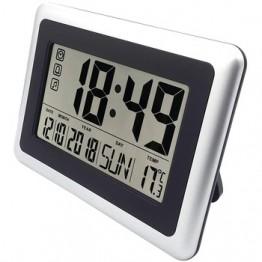 Цифровые настенные часы с большим дисплеем, бесшумные настольные часы на полках, часы на батарейках, календарь, Легко читаемые часы-будильн...