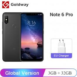 9418.94 руб. |Новая глобальная версия Xiaomi Redmi Note 6 Pro 3 ГБ ОЗУ 32 Гб ПЗУ мобильный телефон Snapdragon 636 Восьмиядерный 6,26