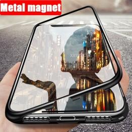 € 8.73 39% de DESCUENTO|Funda de cristal magnética de Metal abatible de lujo para iPhone XR XS Max 8 Plus 7 X iPhone8 6 6 s cubierta carcasa imán parachoques coque Armadura-in Cajas ajustadas from Teléfonos celulares y telecomunicaciones on Aliexpress.com | Alibaba Group