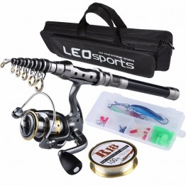 US $34.28 40% OFF|Fishing Rod Combo FULL Kit Travel Spinning Telescopic Fishing Rod Reel Set with Line Lures Hooks and Fishing Bag Accessories-in Rod Combo from Sports & Entertainment on Aliexpress.com | Alibaba Group