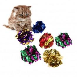 € 1.18 21% de réduction|6/12/24 pièces chat jouet Mylar balles coloré anneau papier brillant Crinkly balles jouets sonores pour chat chaton interactif anneau boule de papier-in Jouets pour chats from Maison & Jardin on Aliexpress.com | Alibaba Group