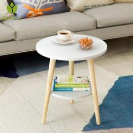 Творческий скандинавский деревянный низкий круглый журнальный столик грязный стол для хранения чай фрукты закуски обслуживание тарелка л...