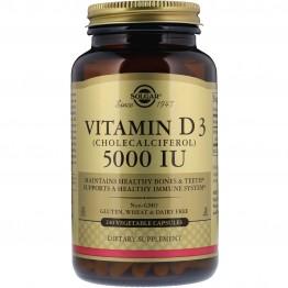 Solgar, Vitamin D3 (Cholecalciferol), 5,000 IU, 240 Vegetable Capsules