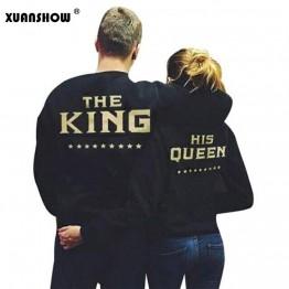 US $7.62 30% OFF|XUANSHOW KING QUEEN Letters Print Men Women Lovers Couple Fleece Autumn Winter Hoodies Sweatshirts-in Hoodies & Sweatshirts from Women's Clothing on Aliexpress.com | Alibaba Group