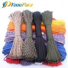 Набор для выживания YoouPara, 250 цветов, Паракорд 550, веревка типа III, 7, 100 футов, 50 футов