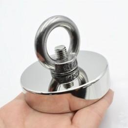 D60mm мощный круглый неодимовый магнит, магнит для морской рыбалки, держатель для оборудования, монтажный бак с кольцом