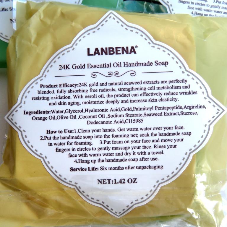 Восхитительное омолаживающее мыло ручной работы от LANBENA