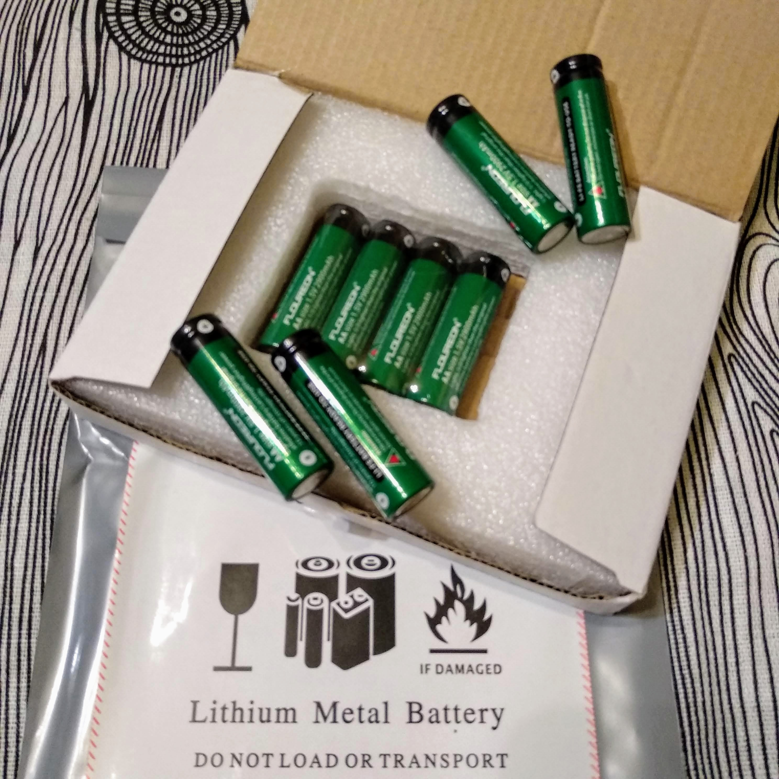Супер батарейки АА 1,5V, 2900 Ah.