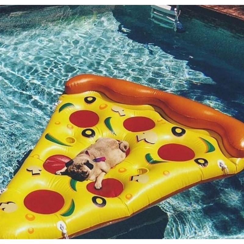 ЭТО НУЖНО ВИДЕТЬ!!! ПЛЯЖНЫЙ СЕЗОН ЖДЁТ ТЕБЯ! Надувной матрас-пицца поможет тебе расслабиться!!!