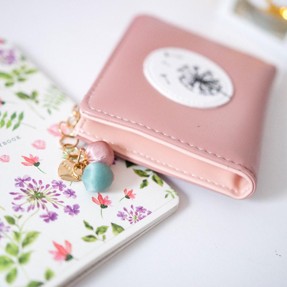 Нежно-розовый кошелекс одуванчиком