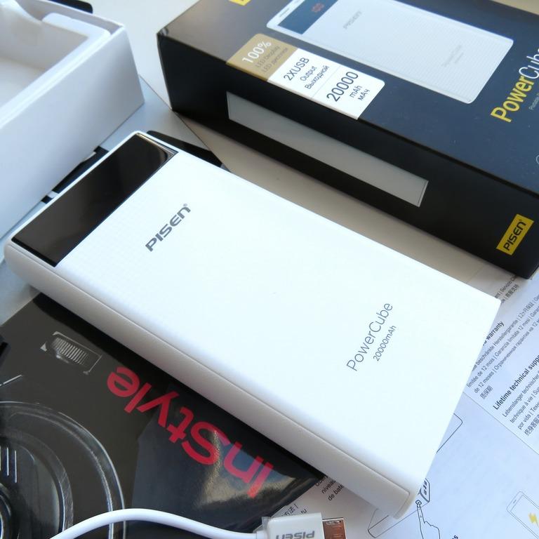 Крутой внешний аккумулятор Power Bank на 20000 мАч с 2 USB портами и светодиодным дисплеем