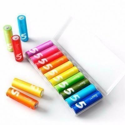 Батарейки Xiaomi Rainbow AA и AAA комплект 10 батареек