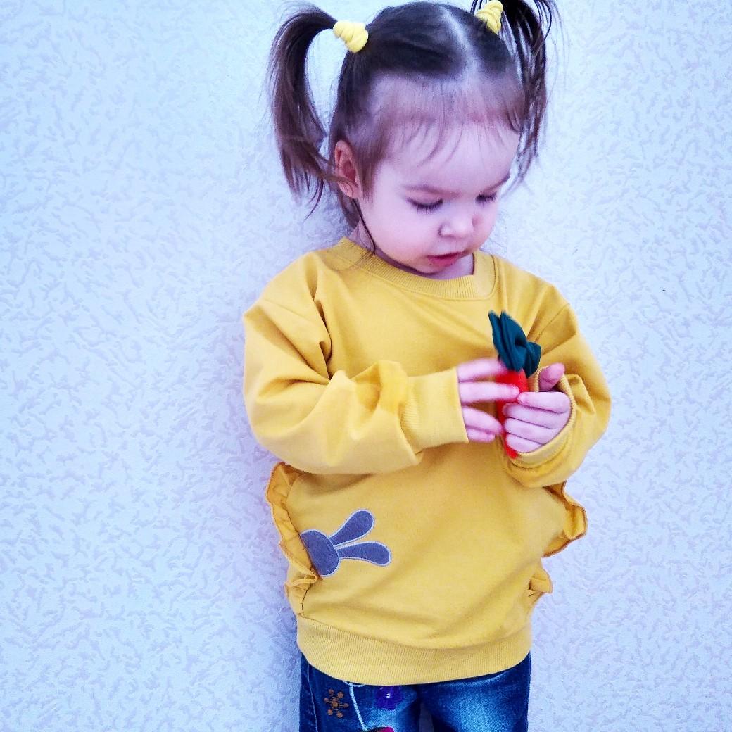 Детский свитшот с морковкой от Bear Leader