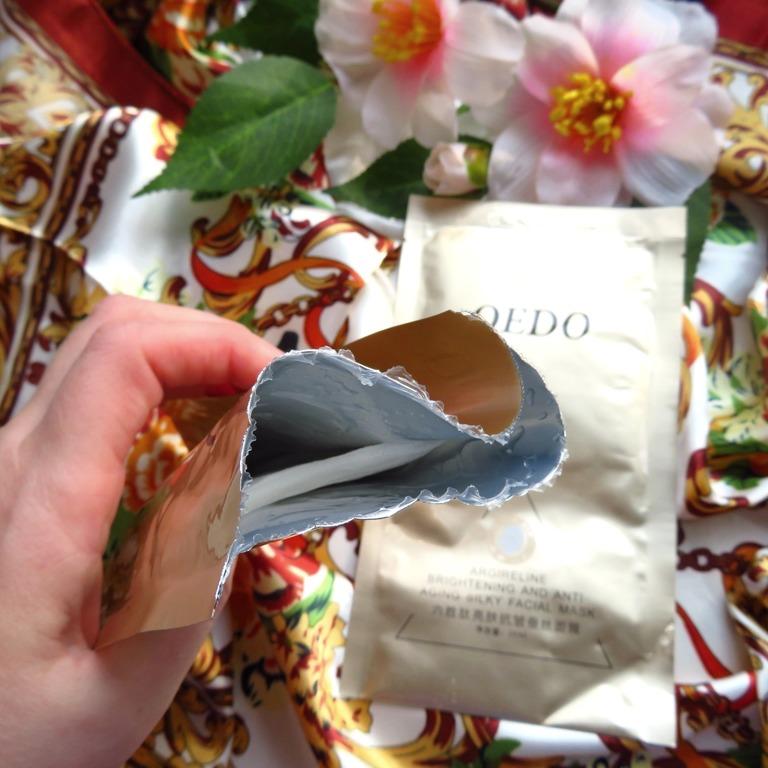 омолаживающая маска с аргирелином и экстрактом шелка от OEDO