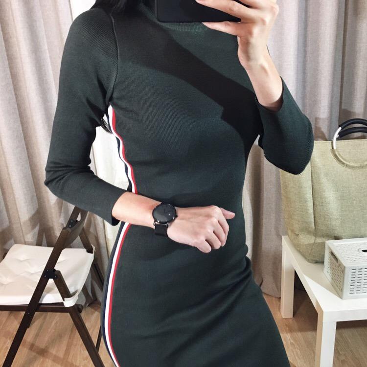 платье цвета Army Green от Samuume