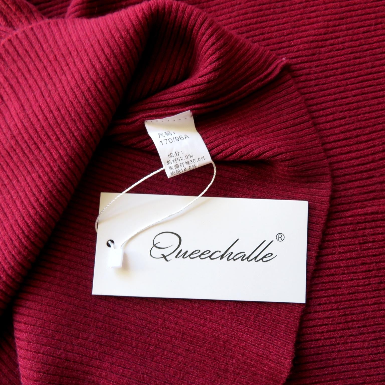 Женственный пуловер с укороченными рукавами в глубоком винном цвете