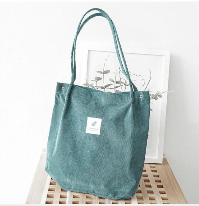 Вельветовая сумка-мешок на лето