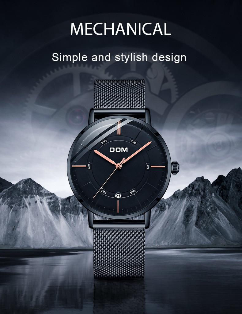 Для мужчин механические часы DOM