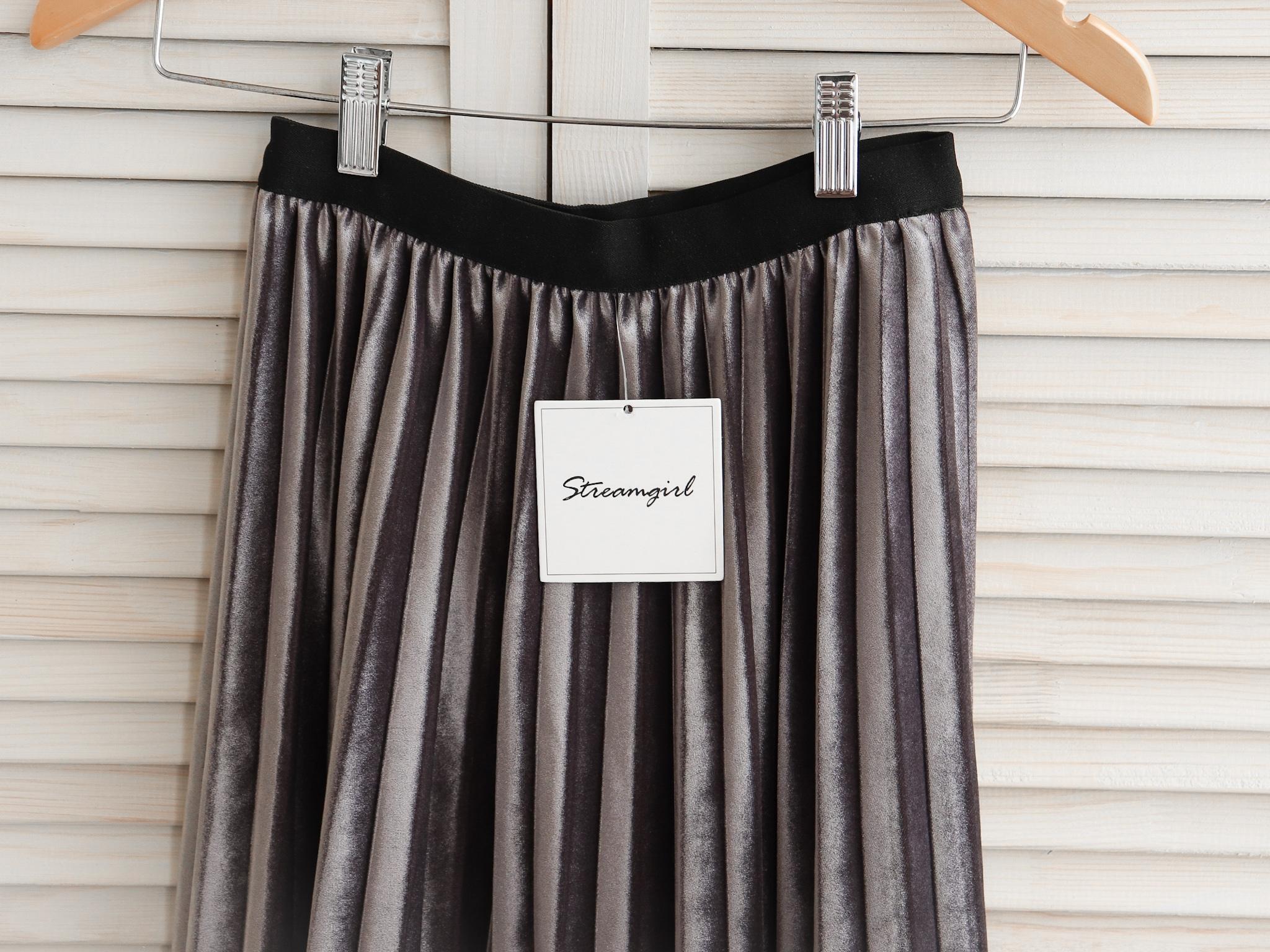 Двусторонняя плисированная юбка streamgirl