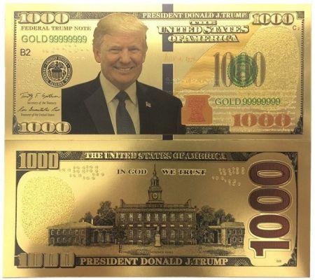 1000 долларов США президент Дональд Трамп