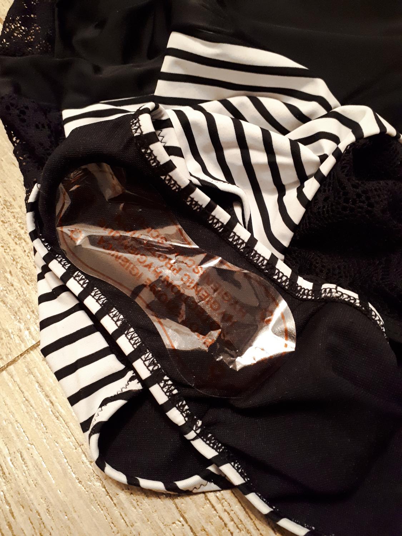 Купальник в чёрно-белый с вставками из кружева Retro Vintage Monokini Swimsuit от TCBSG Store