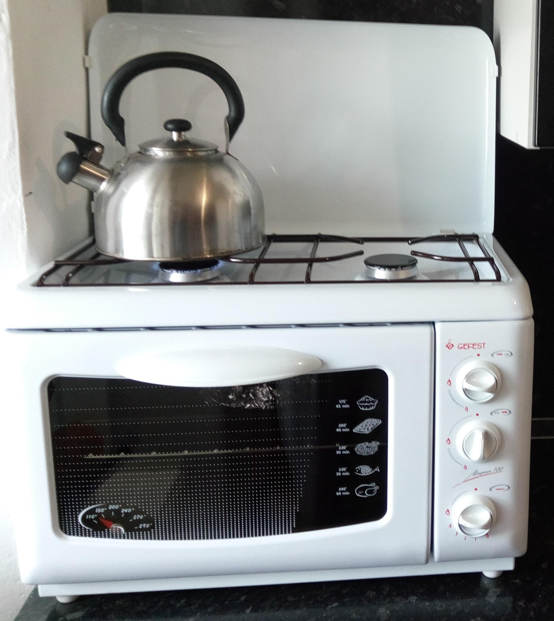 Компактная и стильная газовая плита с духовкой