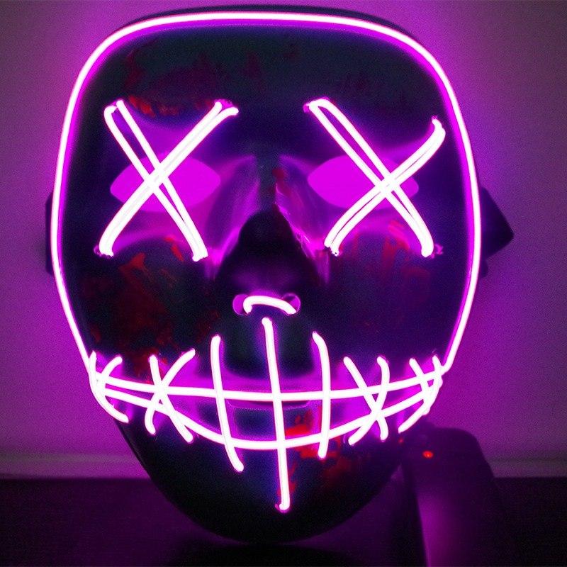 Светодиодная маска на Хэллоуин.