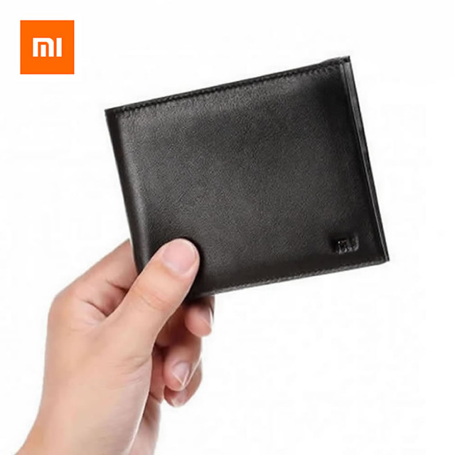 Мужской кошелек Xiaomi MI Genuine Leather Wallet Black