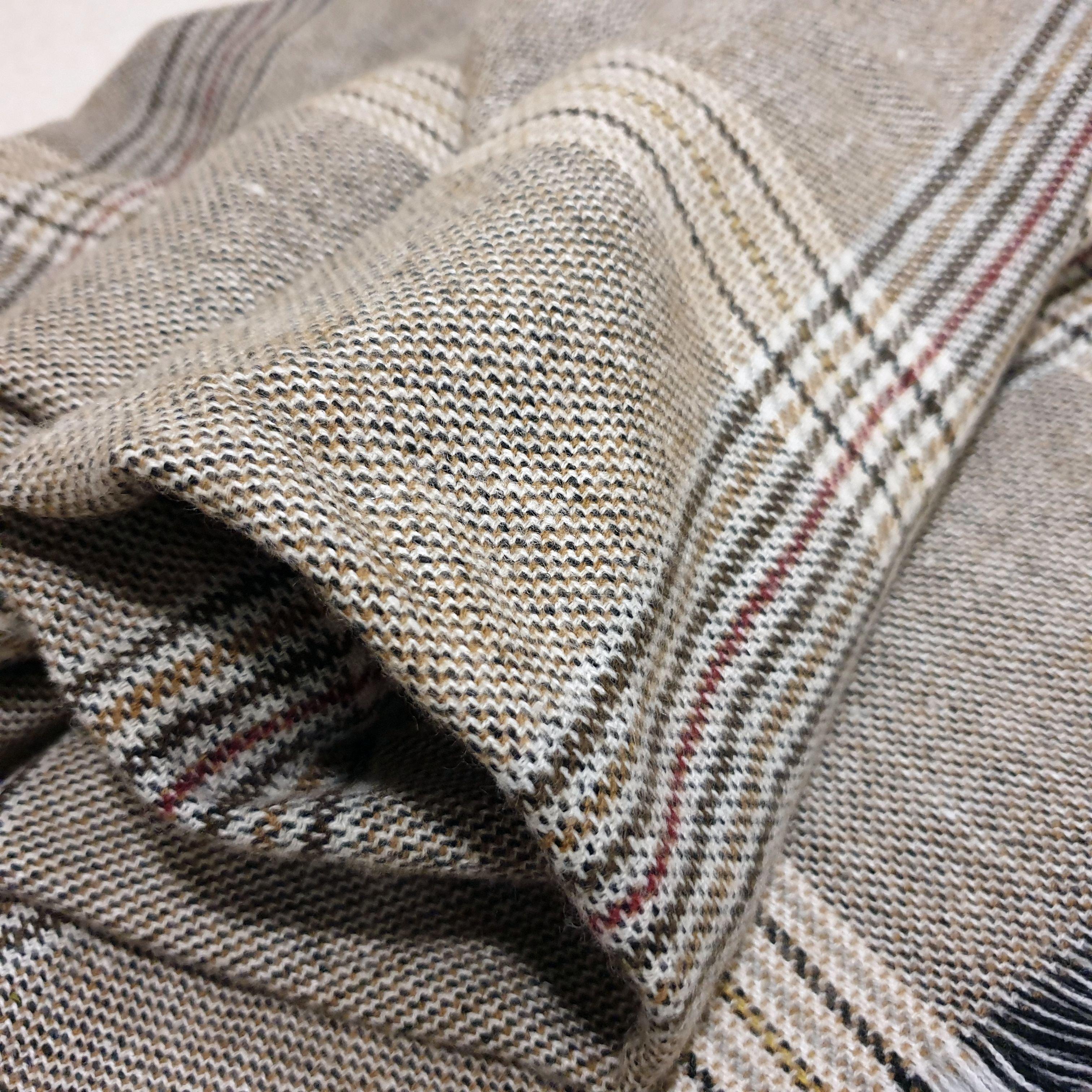 Уютный шарф-плед с классическим рисунком. - fashion