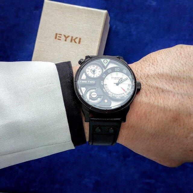 EYKI Кварцевые наручные часы для мужчин - инструкция