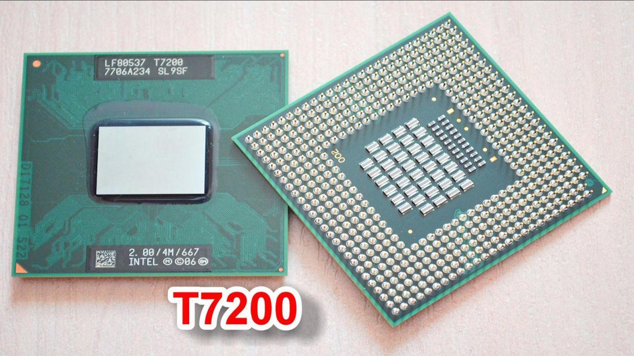 Двуядерный мобильный процессор для апгрейда ноутбука на Socket M  Core 2 Duo Mobile T7200 2.00 GHz - отзывы