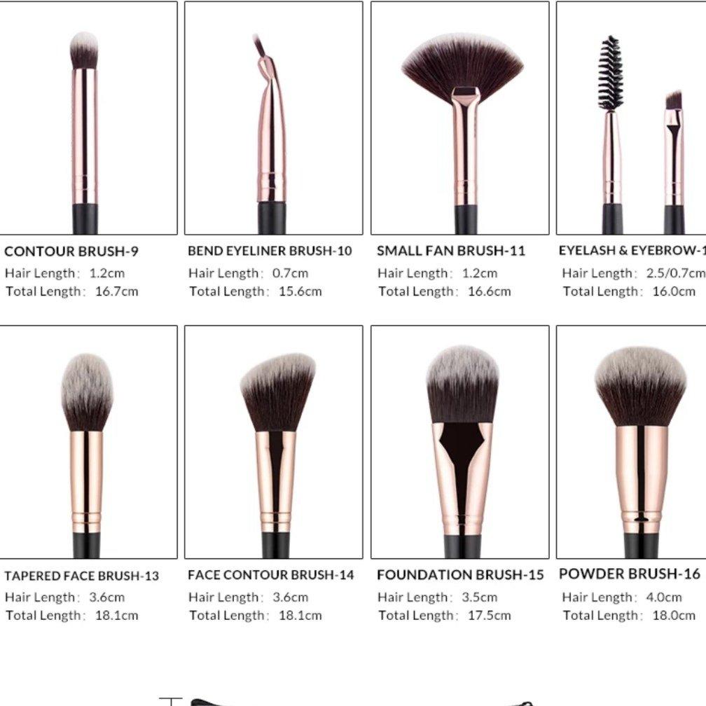 Кисти для макияжа Anmor  Набор из 16 штук - цена
