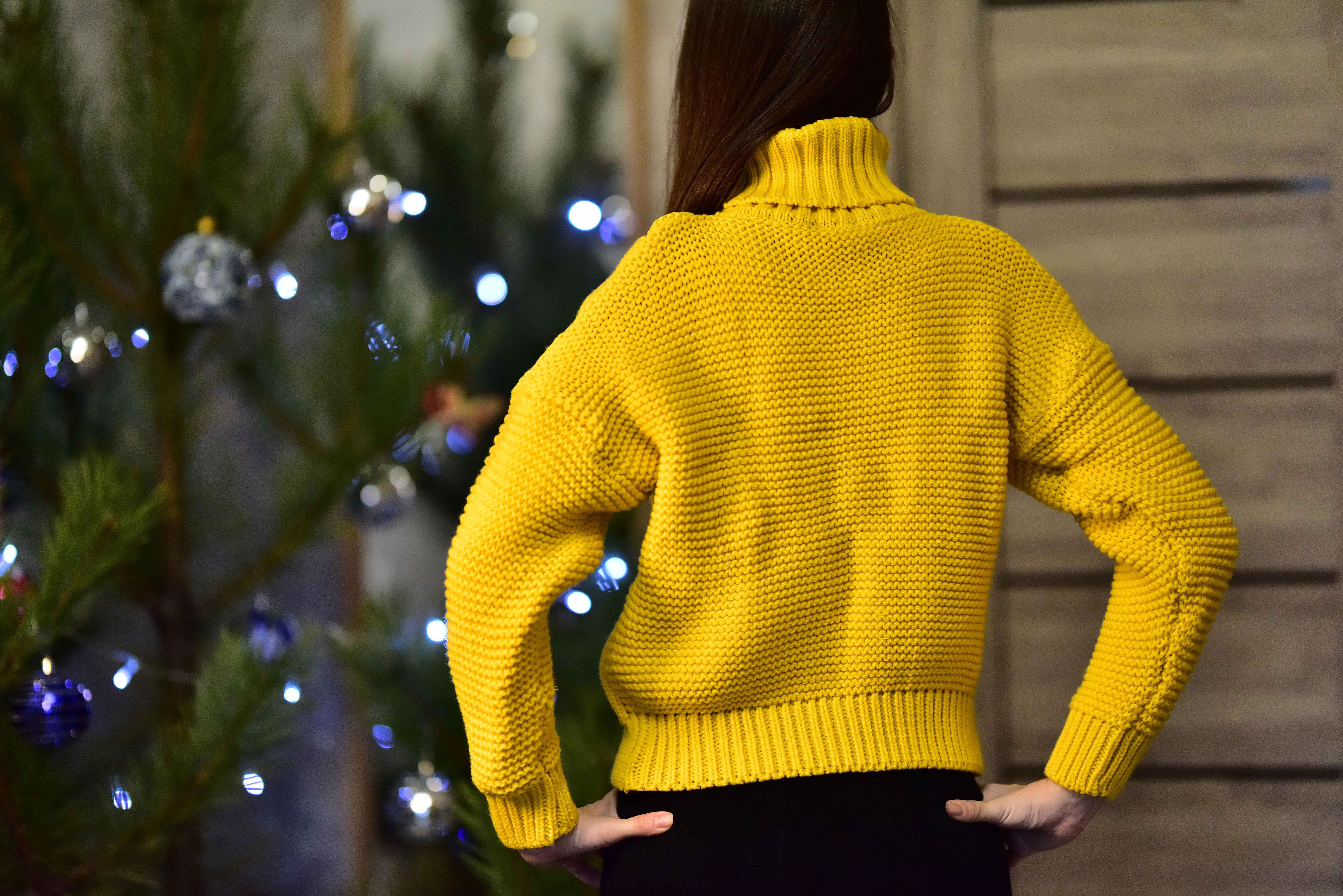 Тёплый жёлтый свитер от Tomorrow Store - aliexpress