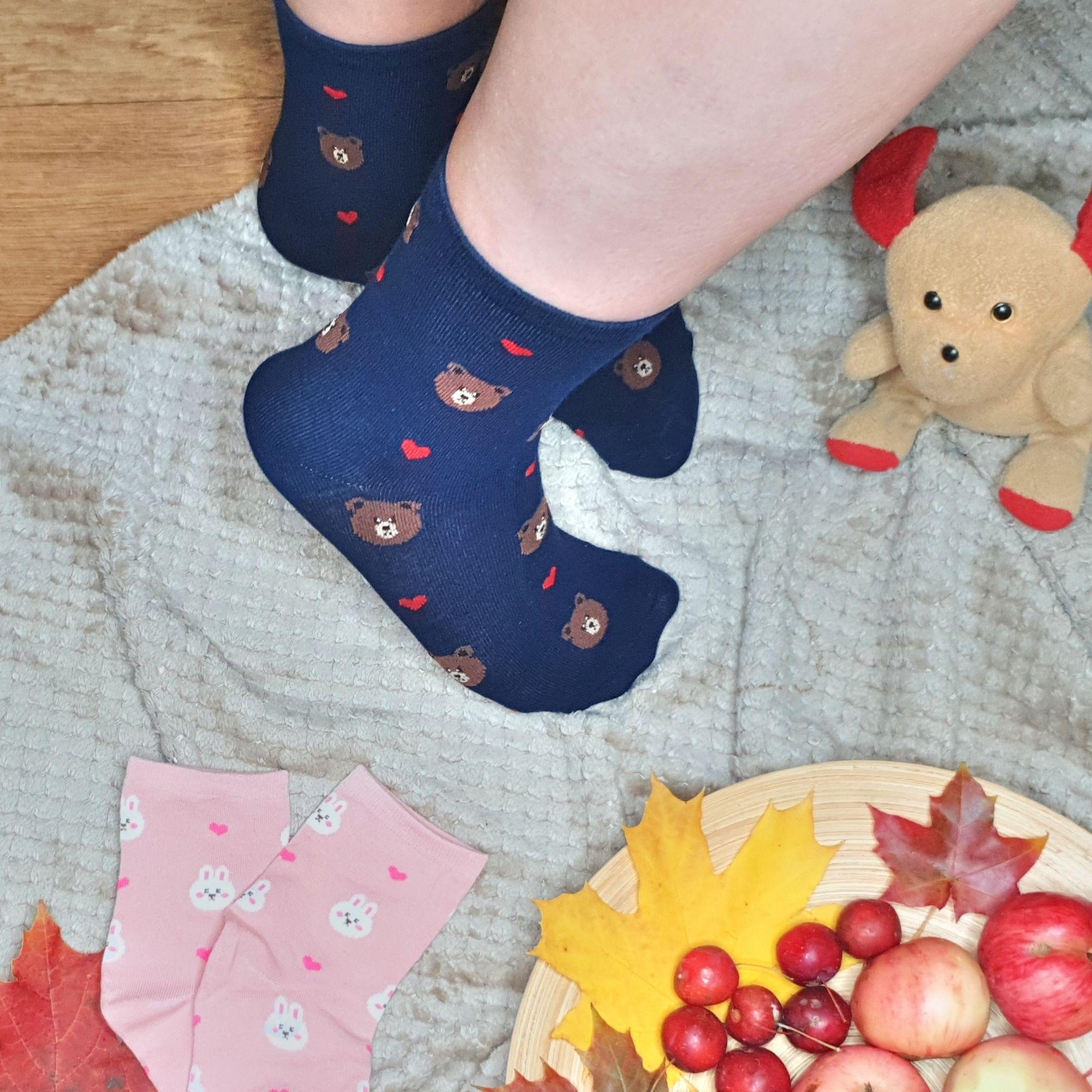 Забавные мягкие, эластичные и очень удобные носки - хлопок
