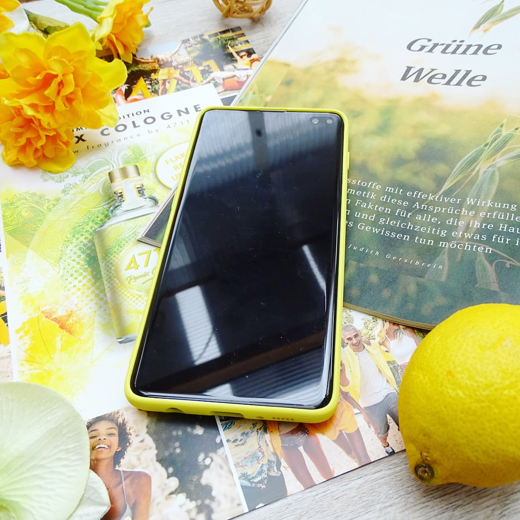 Силиконовый чехол на Samsung цвета солнца - фото