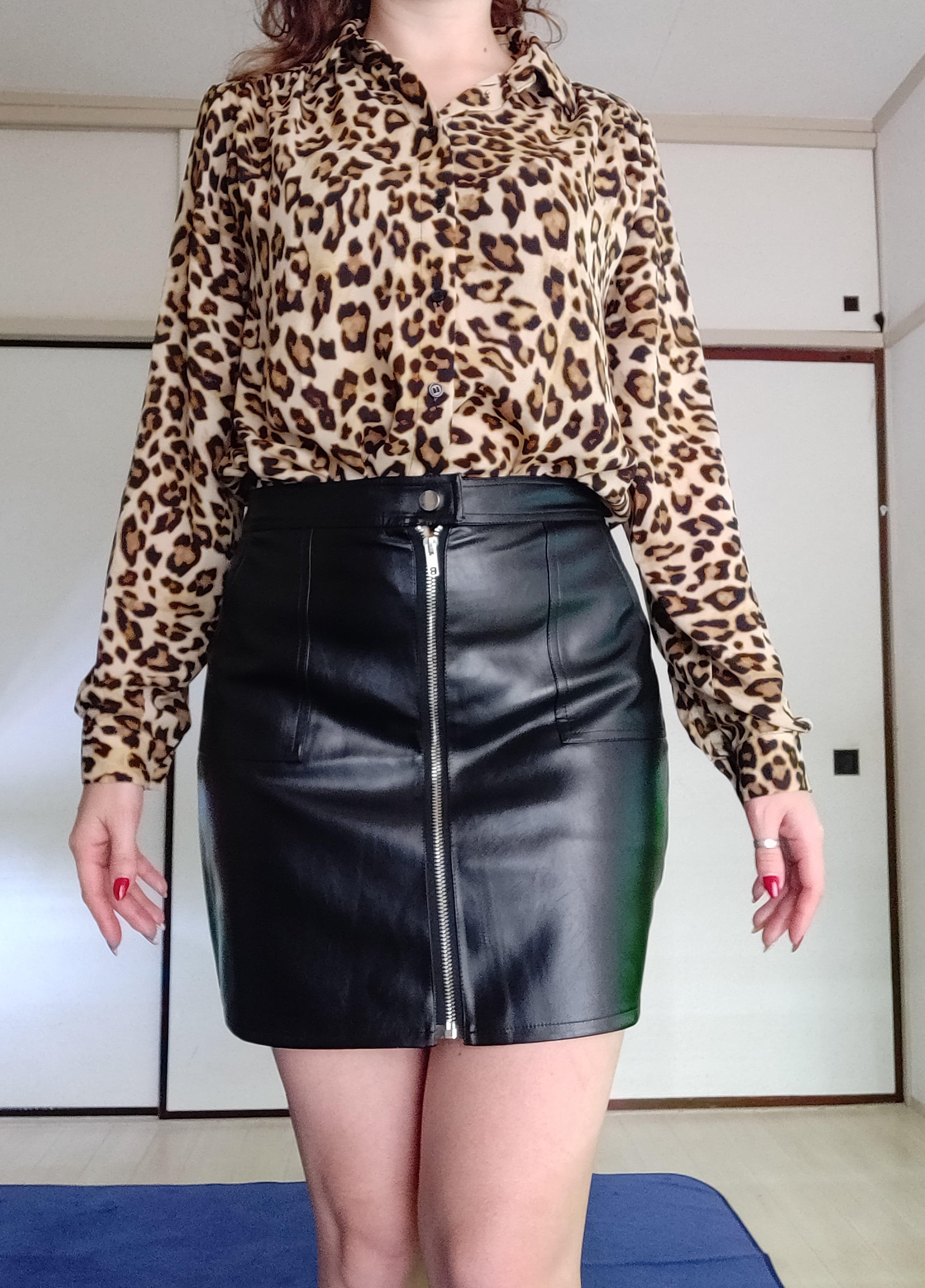 Шикарная юбка из искусственной кожи от N.XINZHE - обзор