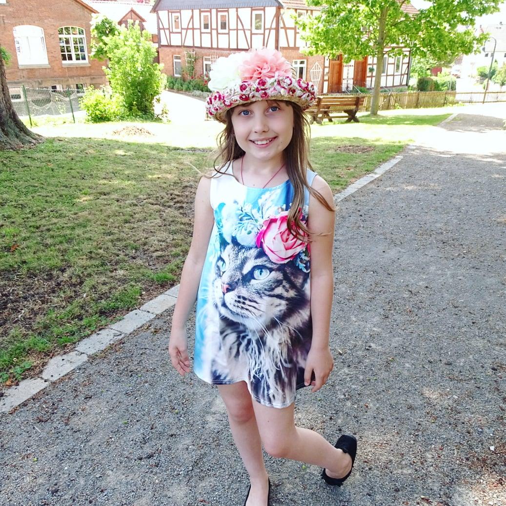Чудесное платье с изображением котика. - отзывы
