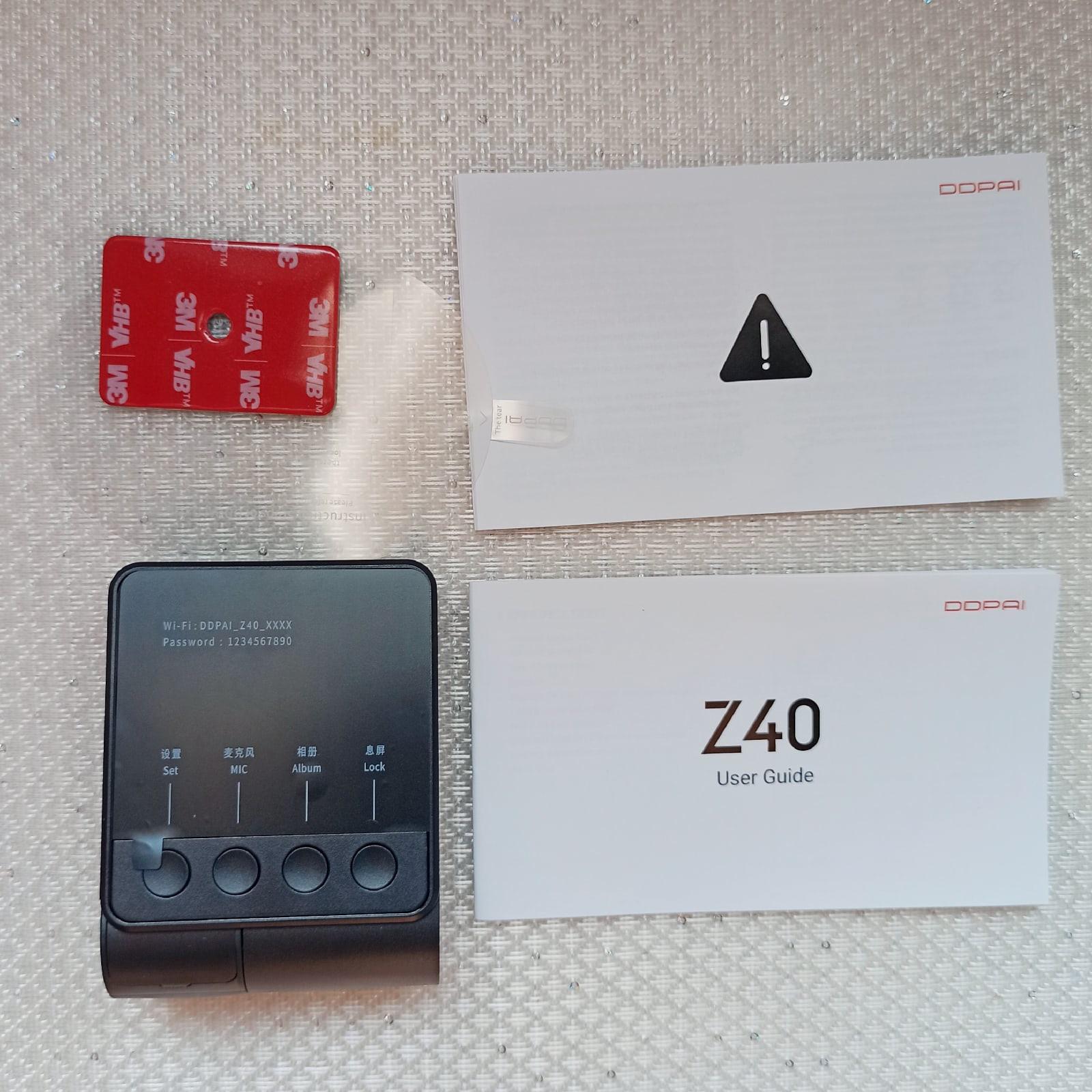 Обзор на видеорегистратор DDPAI Z40. Характеристика, комплектация - цена