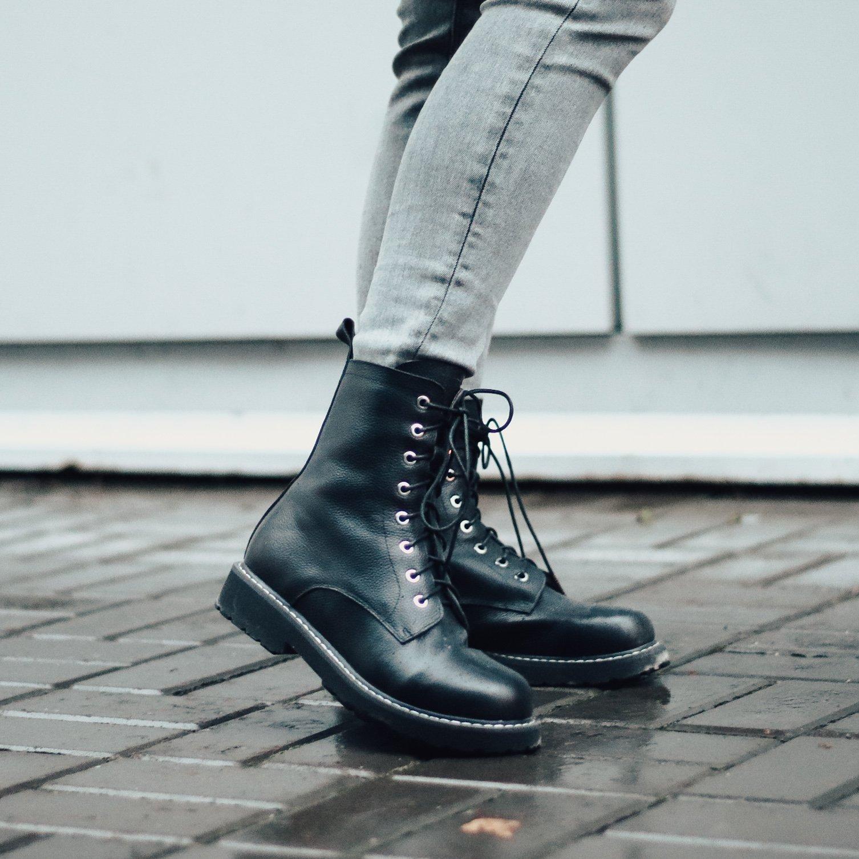 Ботинки из натуральной кожи - Алиэкспресс